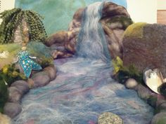 Needle Felted Mermaid and Waterfall and Lagoon by PhaedraPhoenix, via Flickr