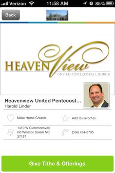 Heavenview United Pentecostal Church in Winston Salem, North Carolina #GivelifyChurches