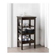 IKEA - HEMNES, Scaffale, mordente marrone-nero, , Grazie ai ripiani a giorno, puoi tenere a portata di mano gli oggetti che usi spesso.