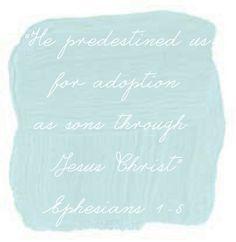 Ephesians 1:5 adoption