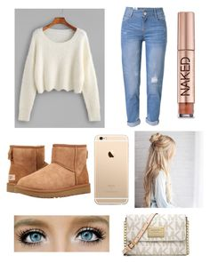 """""""Untitled #418"""" by ll1021 ❤ liked on Polyvore featuring WithChic, UGG, Urban Decay and Michael Kors"""