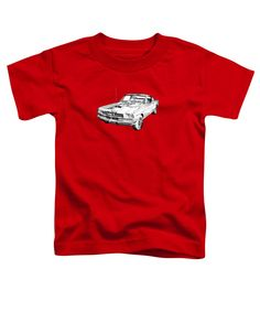 4c875585 1966 Ford Mustang Fastback Illustration Toddler T-Shirt for Sale by Keith  Webber Jr