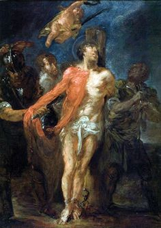 Saint Bartholomew the Apostle pray for us and bookbinders, cobblers/shoemakers and those suffering from neurological diseases. Catholic Saints, Patron Saints, St Bartholomew Church, Believe In Miracles, Pray For Us, Painting, August 24, Brain, Spirituality