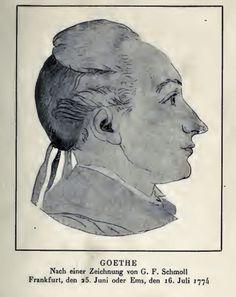 Getekend portret van Goethe uit 1774