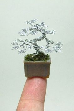 Miniature Mame Wire Bonsai Tree by Ken To