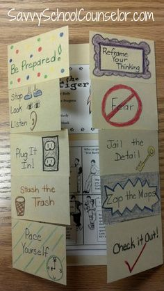 """Test-Taking Foldable~ 10 great test-taking tips to easy anxiety, offer strategies.I like the idea of a """"Cheater Blocker"""" that has test taking strategies written all over it. Test Taking Skills, Test Taking Strategies, Avid Strategies, School Classroom, Classroom Activities, Classroom Ideas, Classroom Rules, Teacher Tools, Teacher Resources"""