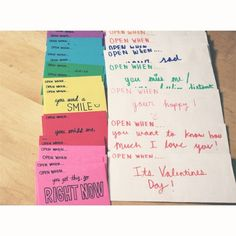 Exchanged #openwhenletters with the #boyfriend on #valentinesday after dinner. This idea was super #cute omg. #relationship #giftidea