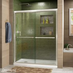 DreamLine Duet 44-in to 48-in W x 72-in H Frameless Sliding Shower Door
