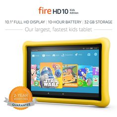 All-New Fire HD 10 Kids Edition Tablet. This is a favorite toy our 3 year old Loves, It's super popular and something he enjoys playing with. Cool Toys For Boys, Kids Toys, Baby Toys, Top Gifts For Girls, Kids Tablet, Tablet 10, Childrens Ebooks, 3 Year Old Boy, Fire Book