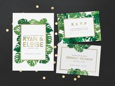 Tropical Invitation Cards