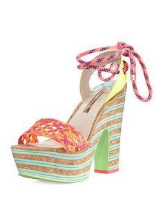 36ab0f7a4682 Sophia Webster Jade Ankle-Wrap Platform Sandal
