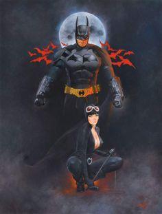 Batman and Catwoman by Enric Torres-Prat