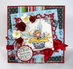 """Moni´s creative place: Card featuring LOTV's """"Never Too Old for Cupcake"""" stamp"""