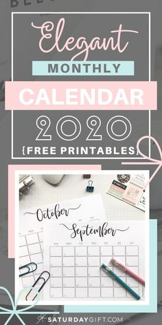 Want to be extra organized and plan ahead? Here's an elegant and minimal 2020 monthly calendar with a lot of space to plan your schedules. Grab this ink-friendly black and white pretty calendar 2020 by clicking the link. Free Monthly Calendar, Printable Calendar 2020, Blank Calendar, Monthly Planner, Printable Planner, Free Printables, College Planner, College Tips, Calendar Ideas
