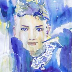 Audrey Hepburn , art , watercolor from ValrArt on Etsy | Art &