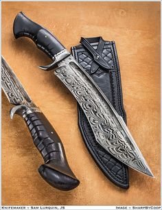 Greetings all, The knife has been shown before - in Blade Show updates and in Caleb's excellent pics and thread. The knife has since passed through. Damascus Blade, Damascus Knife, Damascus Steel, Cool Knives, Knives And Tools, Knives And Swords, Pretty Knives, Bowie Messer, Lame Damas