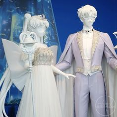 🌙👑 💖The Statues of Neo Queen Serenity and King Endymion⭐️💜✨ #FindingNaokoTakeuchi #セーラームーン #sailormoon #sailormooncrystal