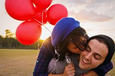 couple, couples photography, couples pictures, in love, engagement pictures, engagement photos, picture ideas, balloons