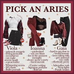 𝙕𝙤𝙙𝙞𝙖𝙘: 𝘼𝙧𝙞𝙚𝙨 Are you an Aries? Which girl would you pick? Somehow I have lots of Aries suns in my life and I love them all! Aries Zodiac Facts, Pisces And Taurus, Zodiac Art, Astrology Zodiac, Horoscope Capricorn, Astrology Signs, Aesthetic Fashion, Aesthetic Clothes, Aesthetic Outfit