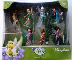 Disney-Tinker-Bell-Fairies-Cake-Toppers-Figures-7-Pc-Play-Set-Theme-Parks-NEW