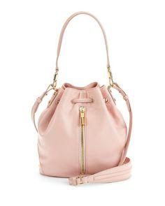 Cynnie Mini Bucket Bag, Pink Beach by Elizabeth and James at Neiman Marcus.