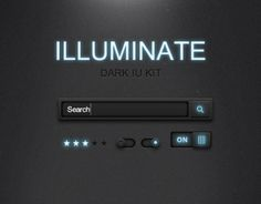 """Check out this @Behance project: """"Free Illuminate Dark UI Kit PSD"""" https://www.behance.net/gallery/6963587/Free-Illuminate-Dark-UI-Kit-PSD"""