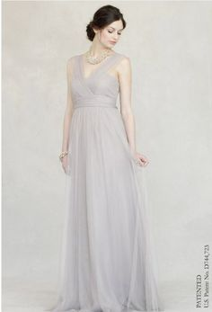 c319d394694c Sleeveless Criss-Cross V-Neck Empire Tulle Bridesmaid Dress With Straps
