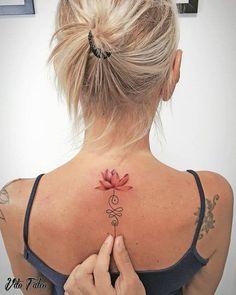 Flower Spine Tattoos, Cute Ankle Tattoos, Ankle Tattoo Designs, Flower Tattoo Designs, Cute Tattoos, Beautiful Tattoos, Tatoos, Unalome Tattoo, Lotusblume Tattoo