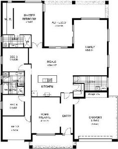 floor plan | House Plans | Pinterest | House design, Home and ...