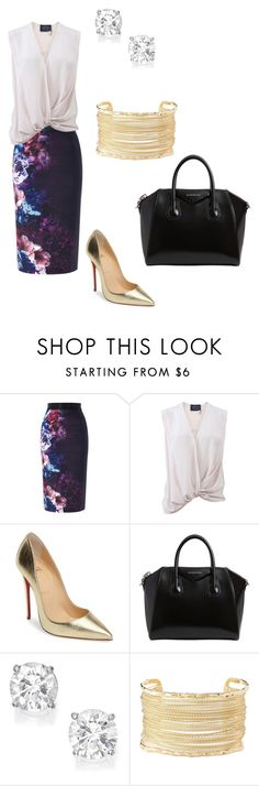 """Untitled #944"" by mimiya-mimiyu ❤ liked on Polyvore featuring Coast, Lanvin, Christian Louboutin, Givenchy and Charlotte Russe"