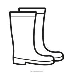 Rain boots template invitation templates autumn k pinterest rain boots coloring page maxwellsz