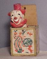 Antique Jack in  Box - Vintage Toys