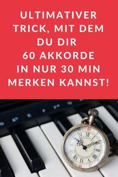 Mit diesem ultimativen Trick, wirst du in der Lage sein, dir die 60 wichtigsten Akkorde am Klavier in nur 30min zu merken. Unglaublich, aber wahr!