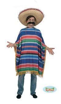 Viva el Mexico !!!  Ce poncho fera de vous un mexicain plus que convainquant. A associer avec une épaisse moustache et un sombrero !