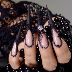 """gothicpastel: """"  Nails made by Kostka Bojana """""""