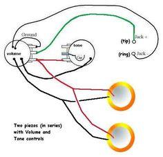 piezo guitar wiring diagram residential electrical symbols \u2022 guitar amp input jack wiring piezo diagram with volume pot and jack making guitars pinterest rh pinterest com electric guitar wiring diagram pdf guitar jack wiring diagram