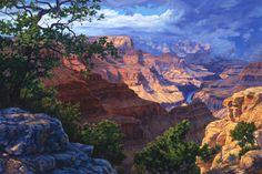 Grand Canyon, AZ, South rim from El Tovar Hotel