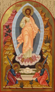 Resurrection of the Lord Religious Images, Religious Icons, Religious Art, Byzantine Icons, Byzantine Art, Church Icon, St Clare's, Our Lady Of Sorrows, Christian Artwork