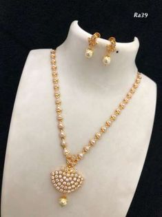 necklace models - Necklace available at For booking msg on 9619291911 - My Popular Photo Pearl Necklace Designs, Gold Pearl Necklace, Gold Earrings Designs, Pearl Jewelry, Pendant Jewelry, Bridal Jewelry, Beaded Jewelry, Necklace Ideas, India Jewelry