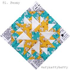 The Farmer's Wife 1930s Quilt Along, blocks 81 and 82, Peony and Pharlemia   verykerryberry   Bloglovin'