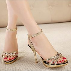 55250b13834a Buy Fashion Style Slim Belt Buckle Beading Thin Heel Sandals China brand  wholesale ( 14.50)