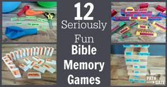 If you need easy ideas to make memory verse time seriously fun, these 12 games will deliver- with very little prep time and everyday items you already have.