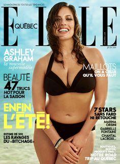 """BEAUTY LICIEUSE: Le magazine ELLE Québec prouve une fois de plus que la beauté n'est pas forcément """"brindille"""" !"""