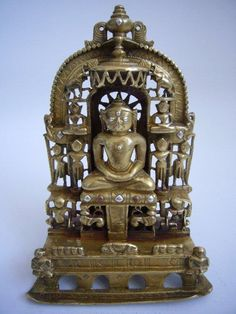 Indian Bronze Jain Shrine Dated1453