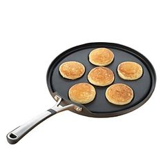 A nonstick surface and fantastic heat distribution earn this Simply Calphalon Nonstick silver-dollar pancake pan a spot in your kitchen. Pancake Pan, Pancake Recipes, Silver Dollar Pancakes, Calphalon Cookware, Griddle Pan, Main Meals, Cool Kitchens, Kitchen Dining, Cooking