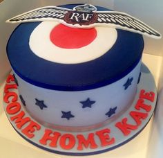 RAF Welcome Home cake (could make this for tim when he comes home) xxx