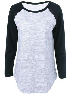 Raglan Sleeve Elbow Patch T-Shirt