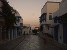"5835km: "" Sunrise in Sidi Bou Said, Tunisia. Photo taken by Edis Bezdrob. """