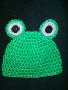 Frog baby Beanie by PinkysCrochetBoutiqu on Etsy, $12.00