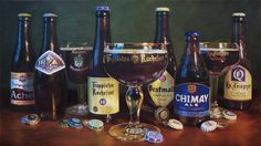 The 7 Trappist Breweries - oil on canvas